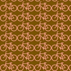 bicycle symbol brown & coral