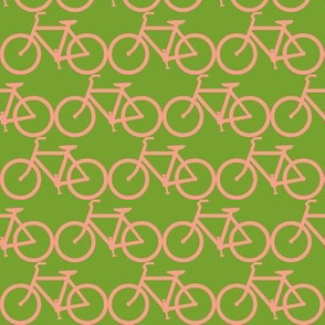 bicycle symbol green & coral