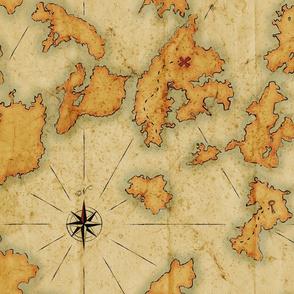 Treasure Islands Vintage map