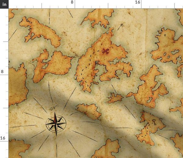 Landkarte Strand Vintage Tropisch Altmodisch Insel Inseln