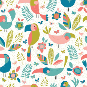 Tropical Island // by petite_circus // mint pink // kids baby nursery //