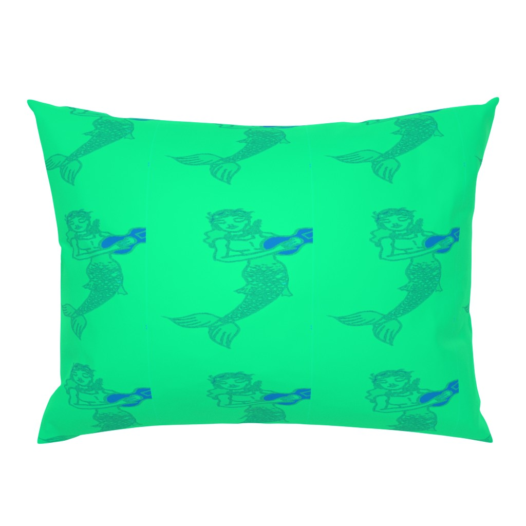 Campine Pillow Sham featuring Sirenas by jokers_r_wild