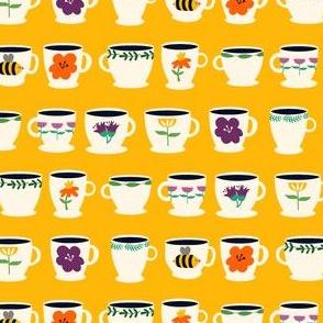 Tea Cups Yellow