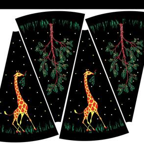 Vintage Giraffe Circle Skirt Kit Black