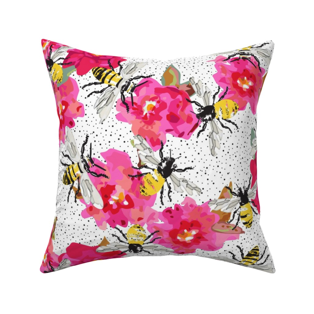 Catalan Throw Pillow featuring Pollination by angelastevens