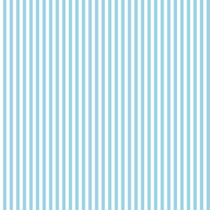 narrow stripes in blue and white