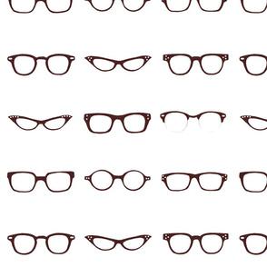 Retro Glasses Frames-White Background
