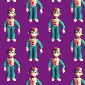 Monkey See. Monkey Do. Purple