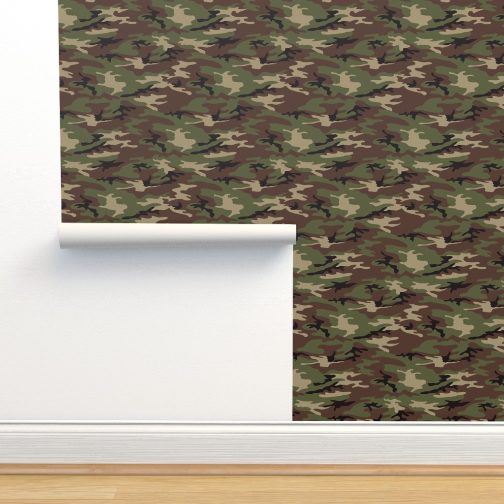 Isobar Durable Wallpaper featuring Woodland Camo by ohdarkthirty