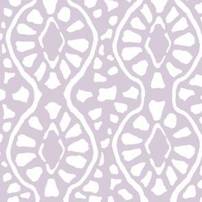 Lavender Gray Trellis