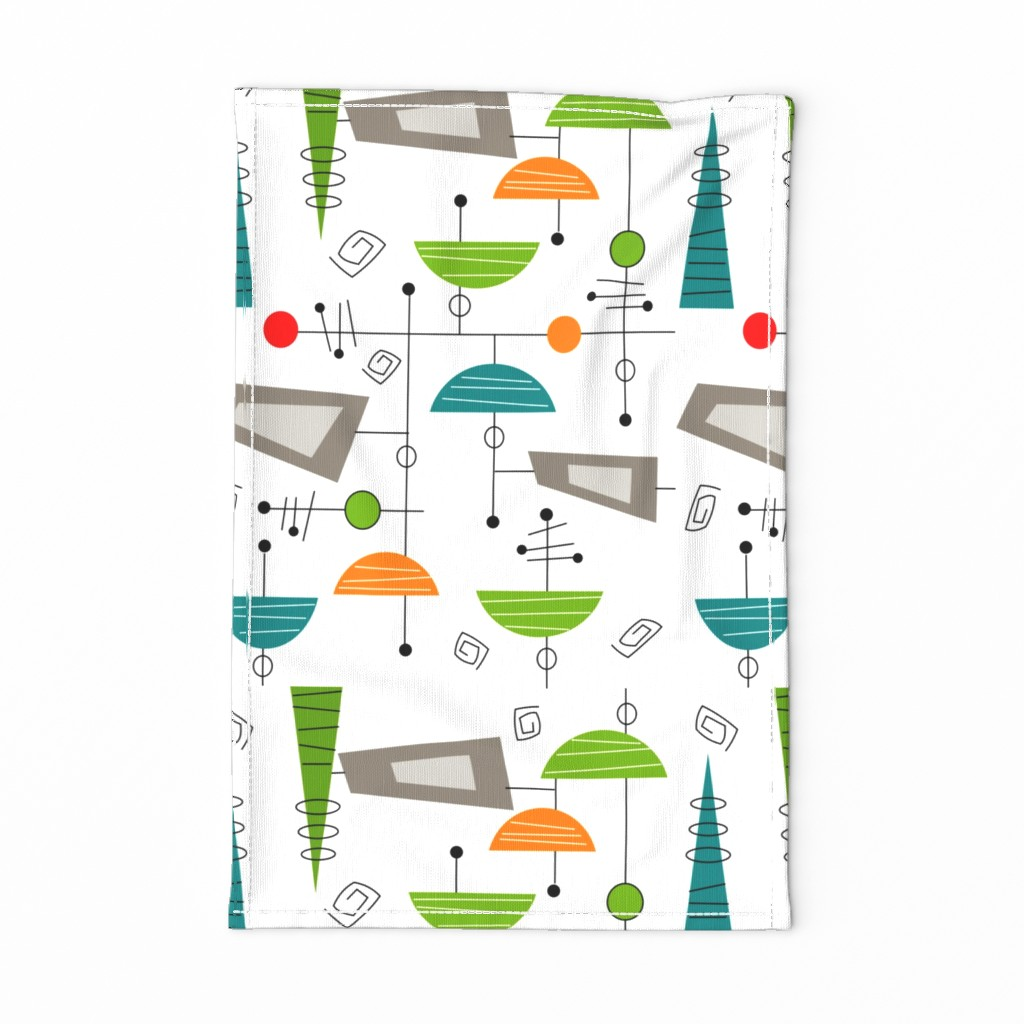Special Edition Spoonflower Tea Towel featuring Atomic Era Abstract by hot4tees_bg@yahoo_com