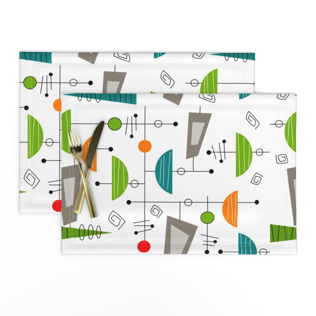Lamona Cloth Placemats featuring Atomic Era Abstract by hot4tees_bg@yahoo_com