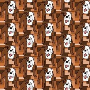 Freddy the Bulldog, half drop
