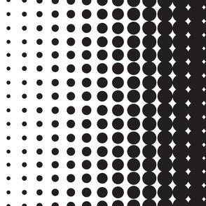 Halftone Black on White