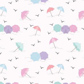 Umbrellas by the Sea