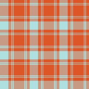 "MacQuarrie tartan, 6""weathered colors"