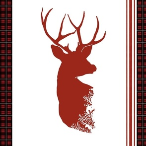 Stag Buffalo Plaid Pillow - Right