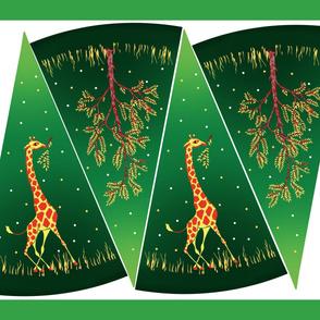 Vintage Green Envy Giraffe Circle Skirt Kit