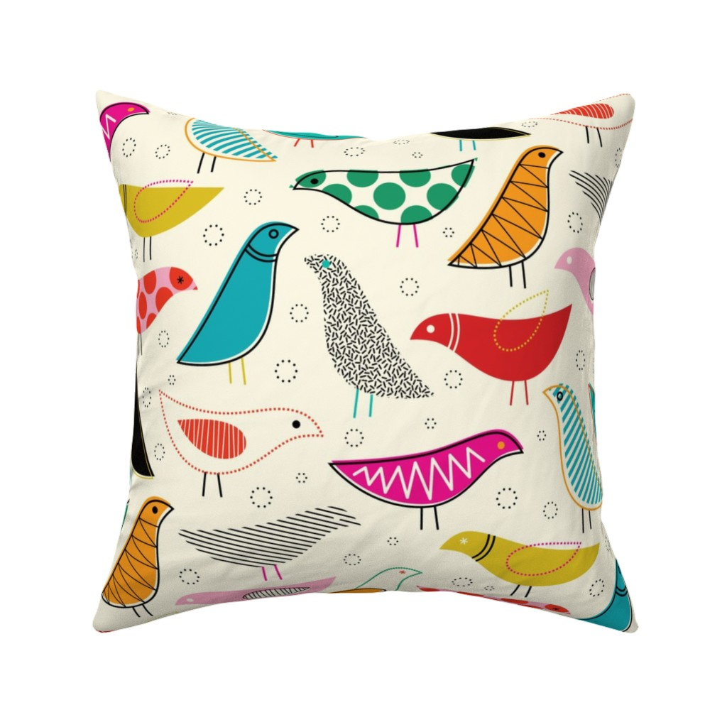 Catalan Throw Pillow featuring A Nod to the House Bird by katerhees