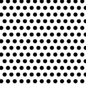 Trés Chic Black & White Small Polka Dots