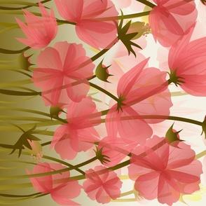 floral meadow border print