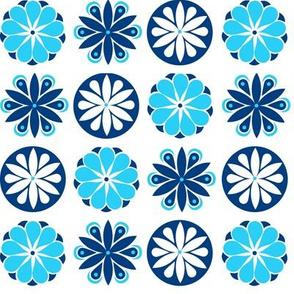 Winter Flowers in Blue
