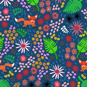 Flora and Fauna with a fox