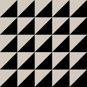 tan black half triangle