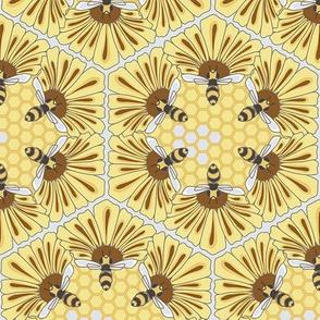 Honey Bee Art Deco