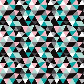 Pastel modern geometric triangle pattern SMALL