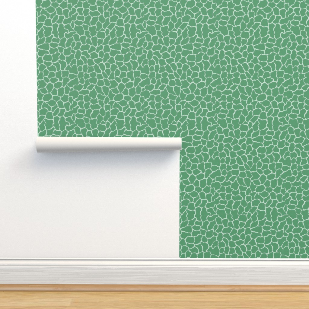 Isobar Durable Wallpaper featuring Reflection Pools in Everglades Green by elliottdesignfactory