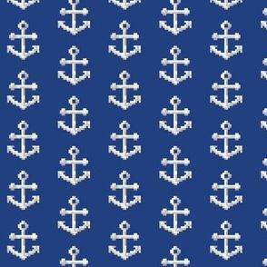 White on Navy Pixel Anchor