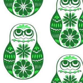 Flower Owls, Solo, in Green