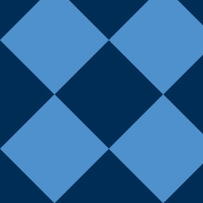 large blue and light blue check