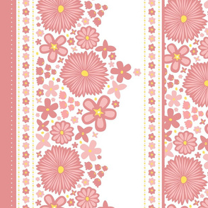 Sweet Spring Blossoms Border