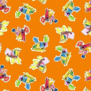 Bubbie's trucks on orange