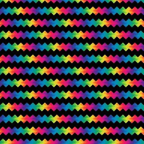 small rainbow ric-rac on black