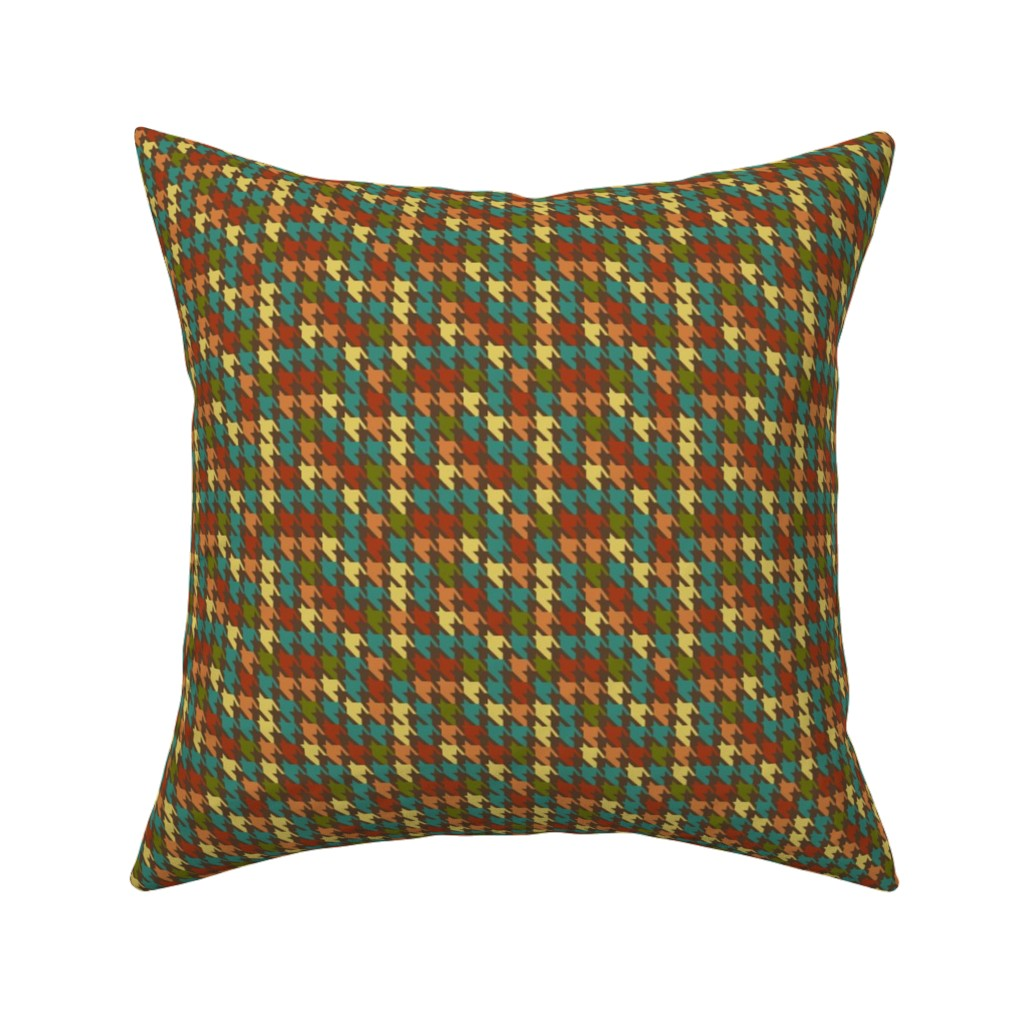 Catalan Throw Pillow featuring Retro Houndstooth by saraink