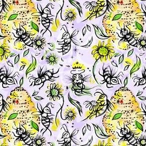 Daisy Bees and Honey Lavender