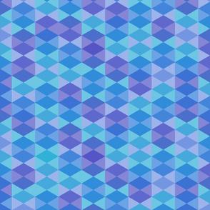 Hexagon in blue