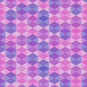 Hexagon in purple