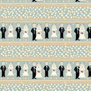 Bride & Groom in a Row