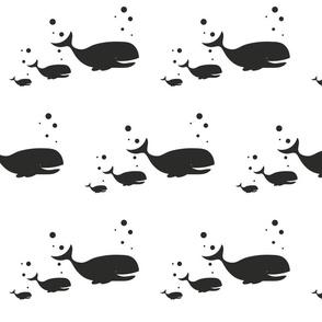 whales blacksillouetts
