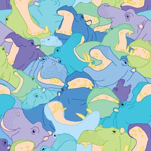 Laughing Hippos - Cool Colours