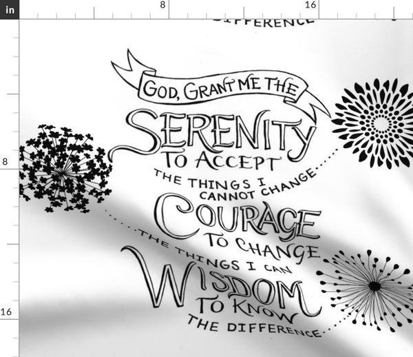 Fabric By The Yard The Serenity Prayer