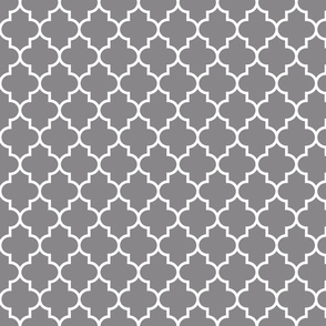 quatrefoil MED granite grey