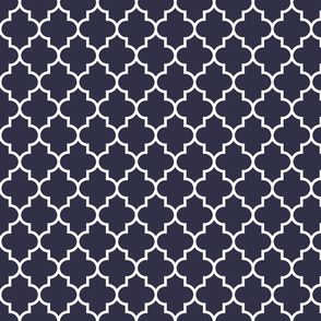 quatrefoil MED midnight blue