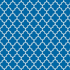 quatrefoil MED royal blue