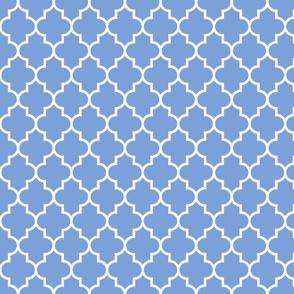 quatrefoil MED cornflower blue