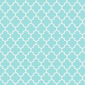 quatrefoil MED light teal
